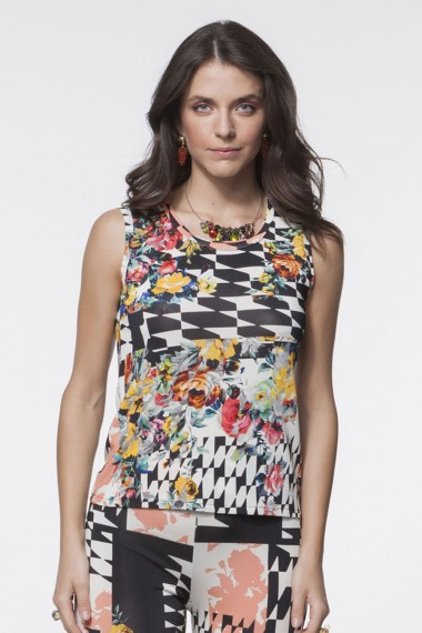 TOP  JERSEY MULTICOLOR ASTRATTO