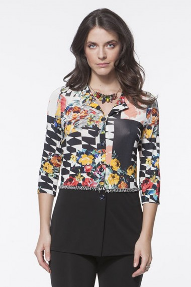 GIACCA  JERSEY MULTICOLOR ASTRATTO